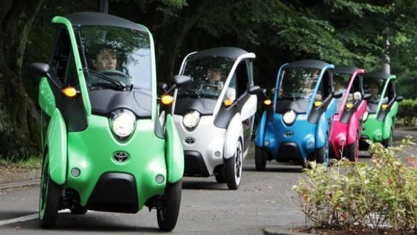 丰田在日本东京地区测试i-Road三轮电动车