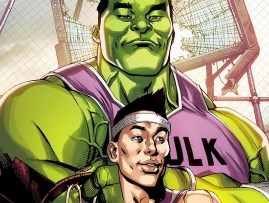 书豪将成漫威漫画角色 搭档绿巨人秒变超级英雄
