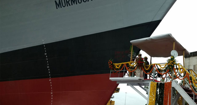 印度第二艘新神盾舰下水