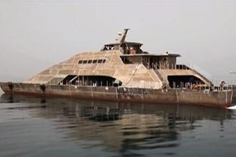 伊朗超科幻双体高速运输舰曝光
