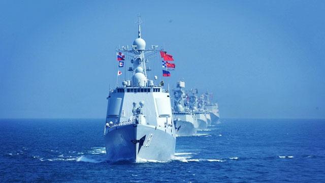中俄海上联演闭幕 两国海军返航