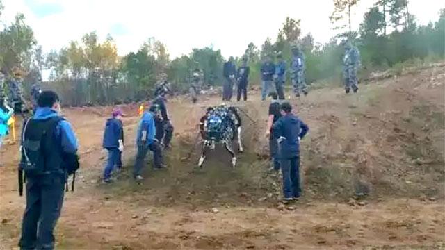 中国版大狗机器人越野赛中夺冠