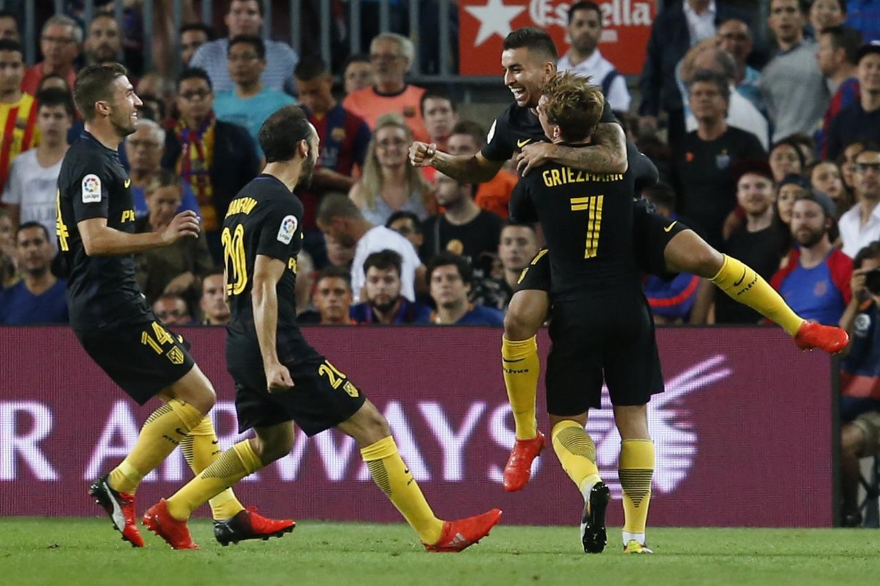 梅西伤退拉基蒂奇头球破门 巴萨1-1平马竞