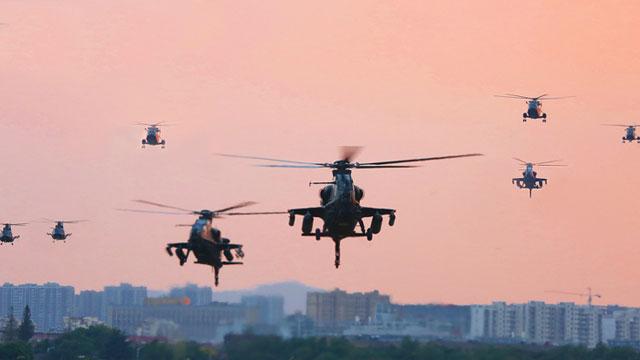 直10武装直升机铺天盖地而来
