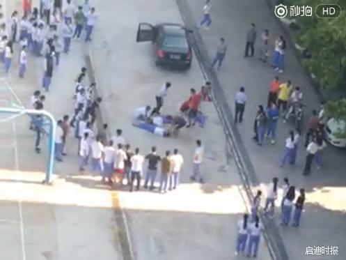 广东一中学女老师校园内撞伤3名学生