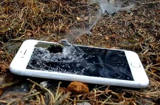 大口径狙击枪打iPhone7会怎样