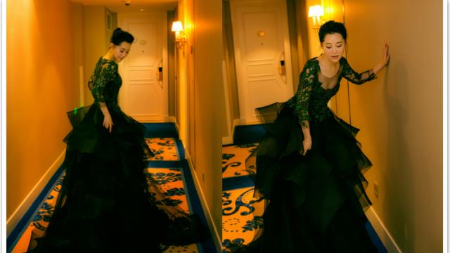 许晴百花红毯造型曝光 黑纱惊艳气质满分