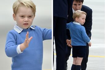 特鲁多欲与乔治小王子交谈 遭扭头冷落