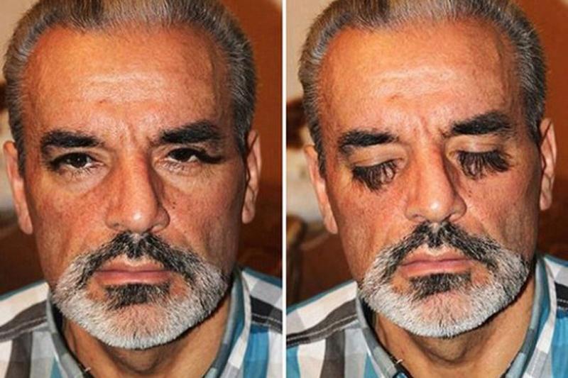 乌克兰男子自称拥有世界最浓密睫毛