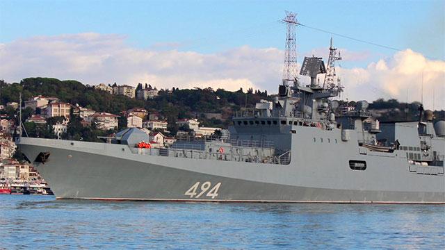 俄罗斯新锐护卫舰通过土海峡
