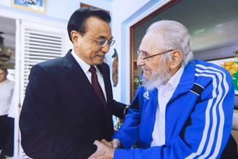 李克强访问古巴看望老卡斯特罗
