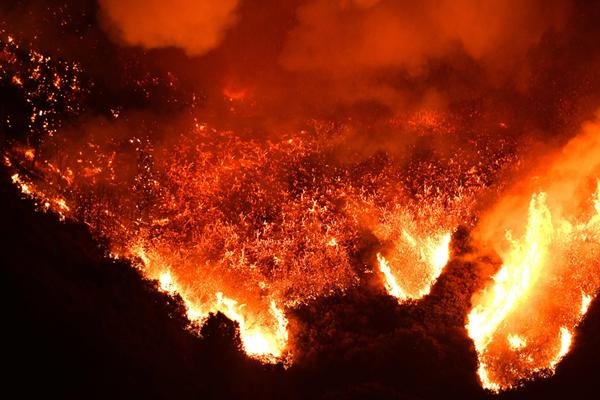 美国加州发生山火 过火面积超400公顷