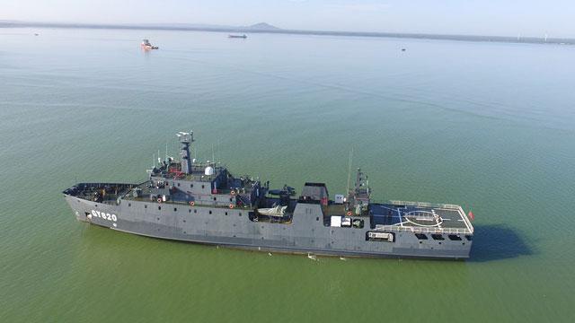 中国陆军又一艘大船服役了