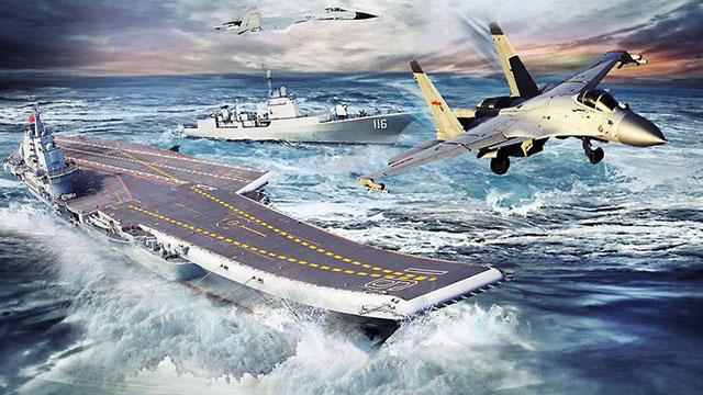 军网制作大气航母桌面献礼国庆