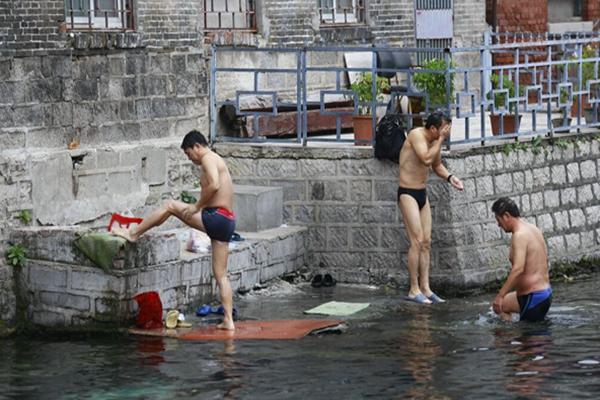 山东济南王府池成市民洗衣洗澡池