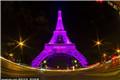 埃菲尔铁塔变粉色高塔