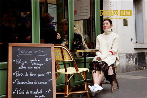 赵雅淇巴黎街拍 引领秋日时尚街拍