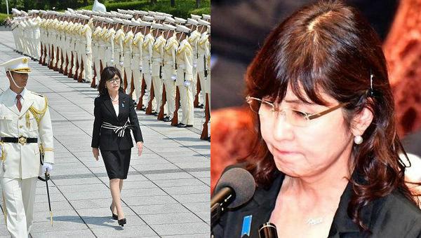 日本女防卫大臣国会答辩被整哭