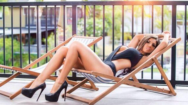 澳洲健美女神晒出超性感私照