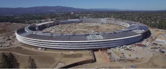 苹果新总部进展,更像一个飞碟了