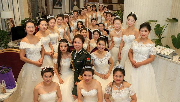 解放军婚礼31位新娘个个漂亮