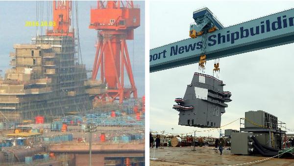 中美英三国如何造航母战舰