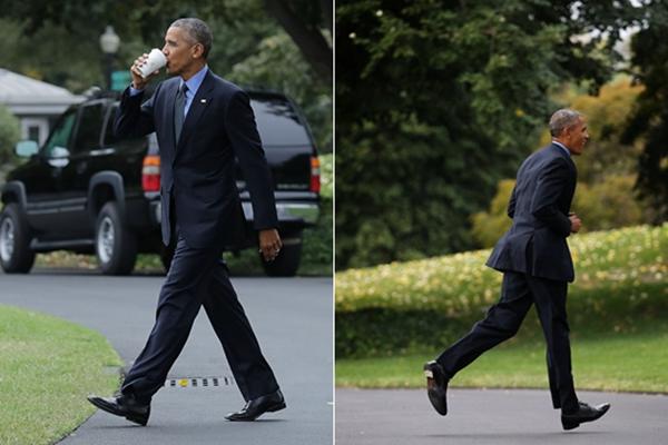 总统也迷糊?奥巴马出行前忘带手机又折返