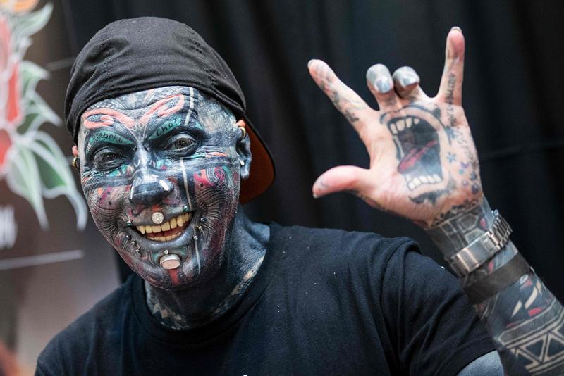 以色列举行纹身大会 穿刺艺术令人瞠目