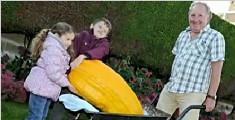老人种巨型果蔬 卷心菜直径9米南瓜能装一个人