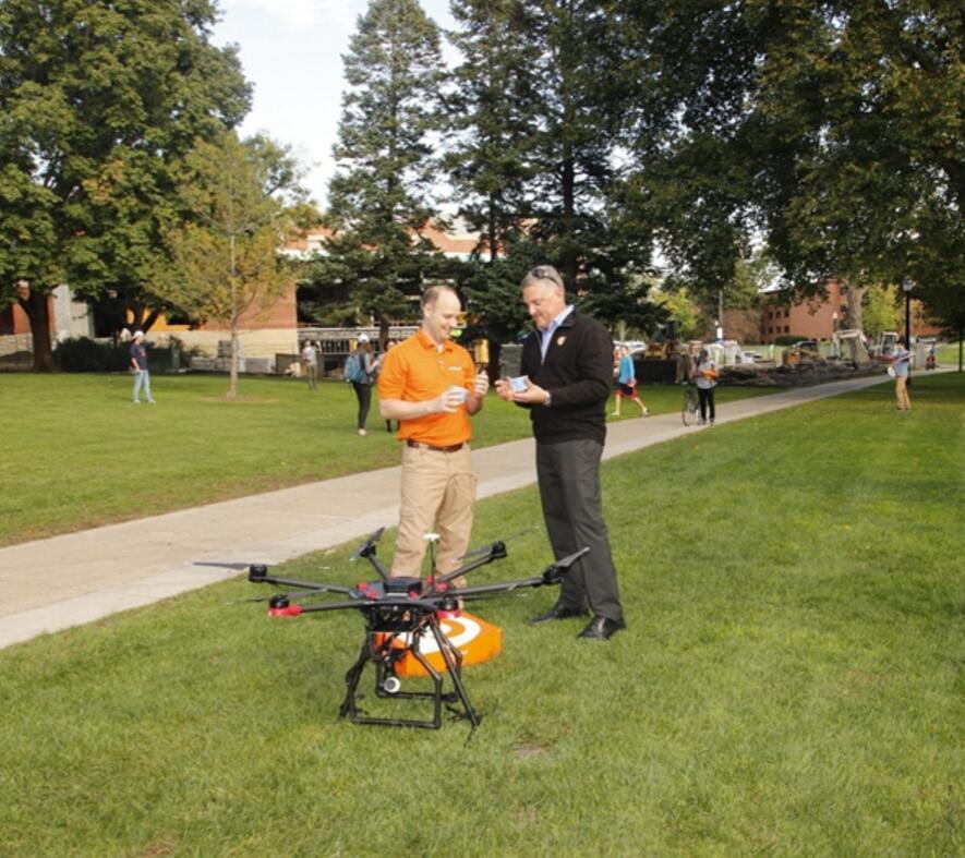 Orange Leaf成功完成无人机运送冻酸奶测试