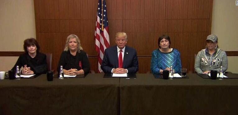 放大招?特朗普二辩前会面与克林顿性侵案受害者