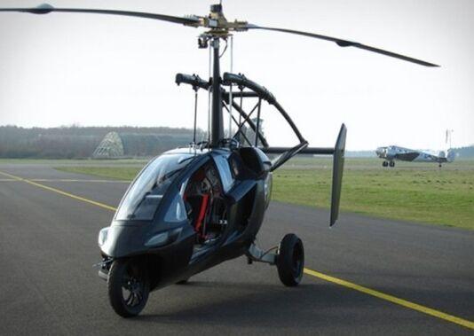 新型飞行摩托车变身直升机 将电影情节变成现实