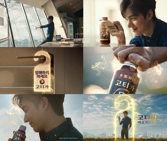 李敏镐拍咖啡广告 展现完美侧颜