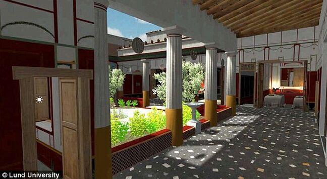 繁华!3D模型技术重现失落的庞贝古城别墅面貌