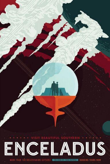 NASA推出独特星际旅行海报 大玩复古