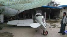 甘肃农民一年造出一架飞机