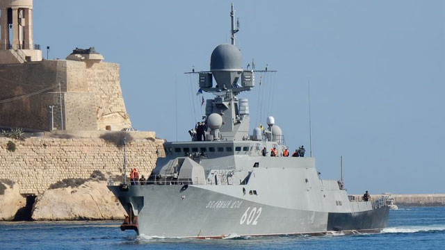 俄最新护卫舰抵达马耳他打击ISIS