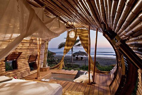 墨西哥现环保型竹屋套房 自然又奢华