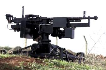 用游戏手柄遥控的机枪现身战场
