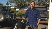 机智小伙直播骑摩托狂追偷车贼