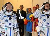 神舟11号航天员出征激动人心