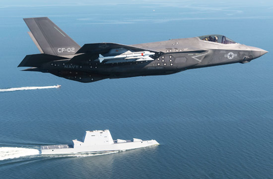 美军最强战机与最强战舰合影