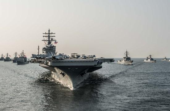 美韩军演大阵仗 航母首次进黄海