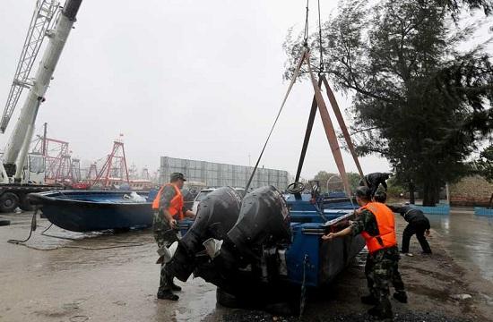 广西北海边防支队全力防范台风