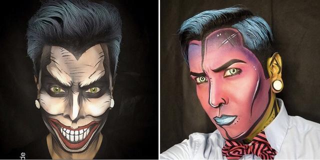 无数次给国外博主跪了 把自己的脸画成漫画人物好逼真