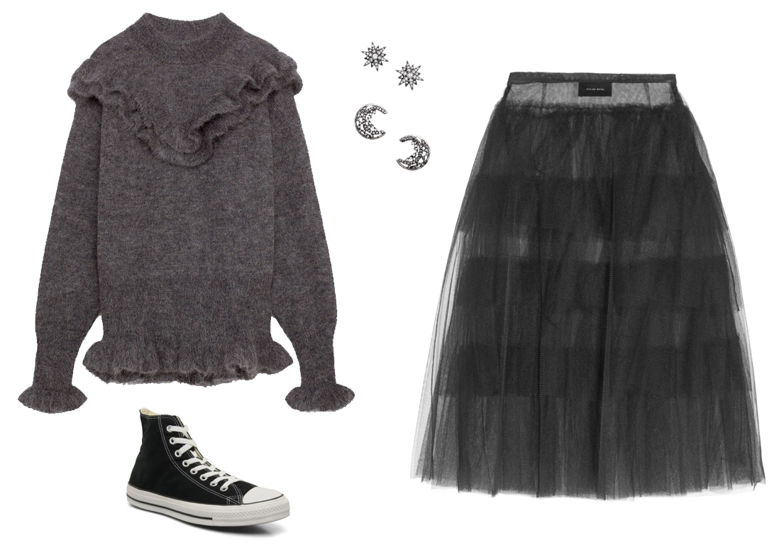 时尚又迷人:法媒教您纱裙的3种流行穿搭