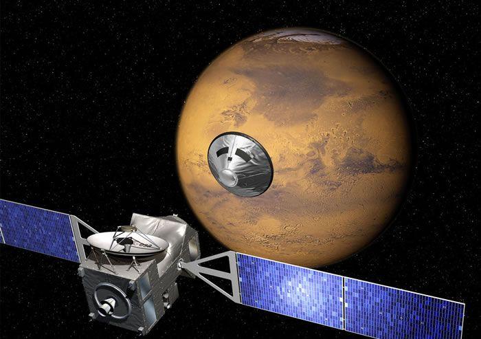 """欧洲探测器登陆火星时""""失联"""" 飞行了七个多月"""