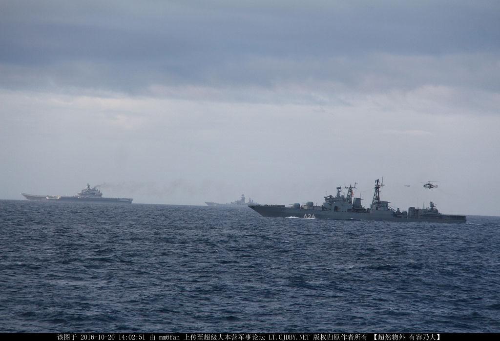 这支航母编队由6艘战舰,1艘潜艇,3艘支援船组成,这样浩浩荡荡的舰队