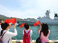 中国海军舰艇首泊越南金兰湾