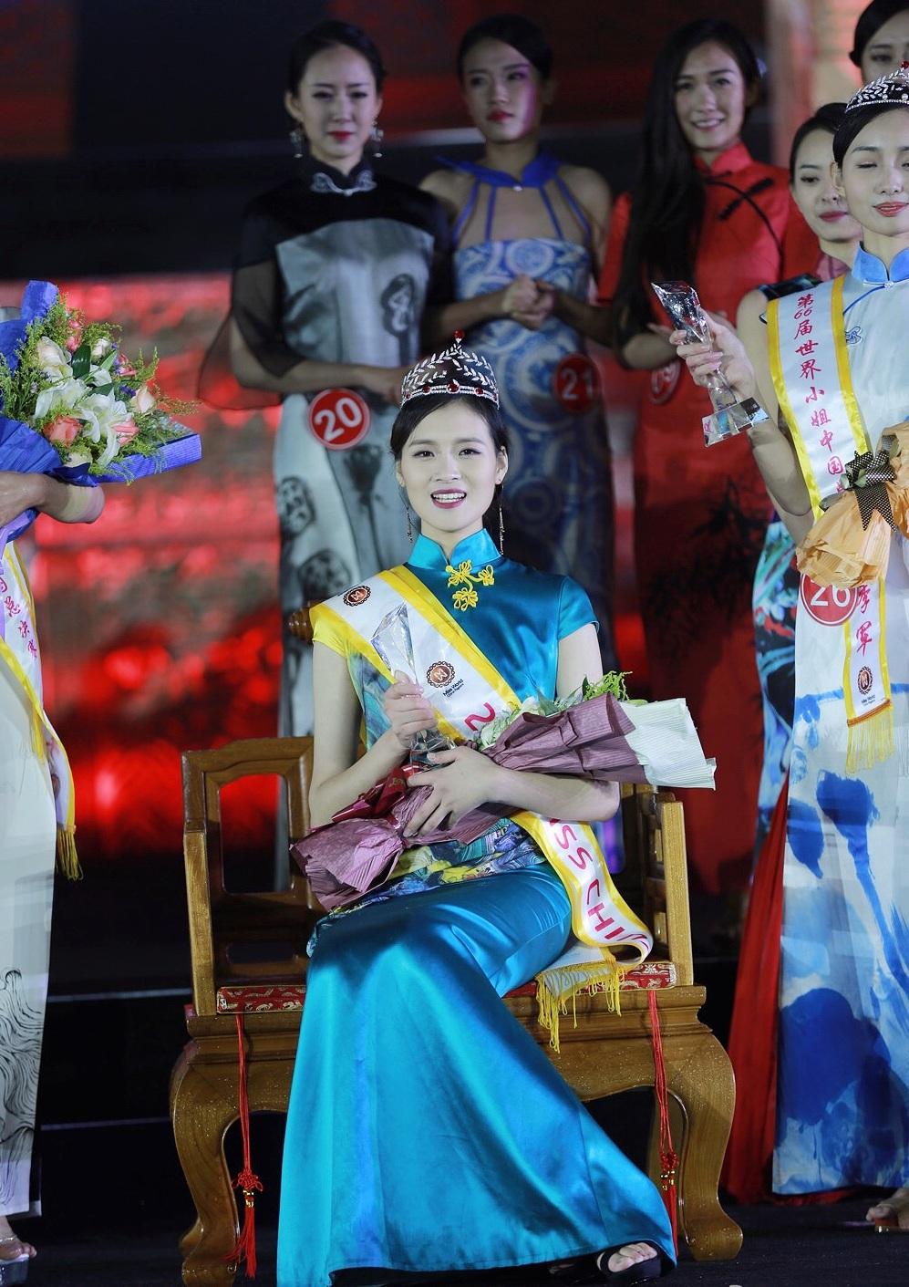 大四女生当选世界小姐中国总冠军 长腿美颜名副其实